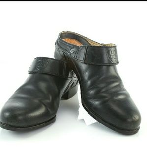 Ariat Black Leather Mules size 7.5